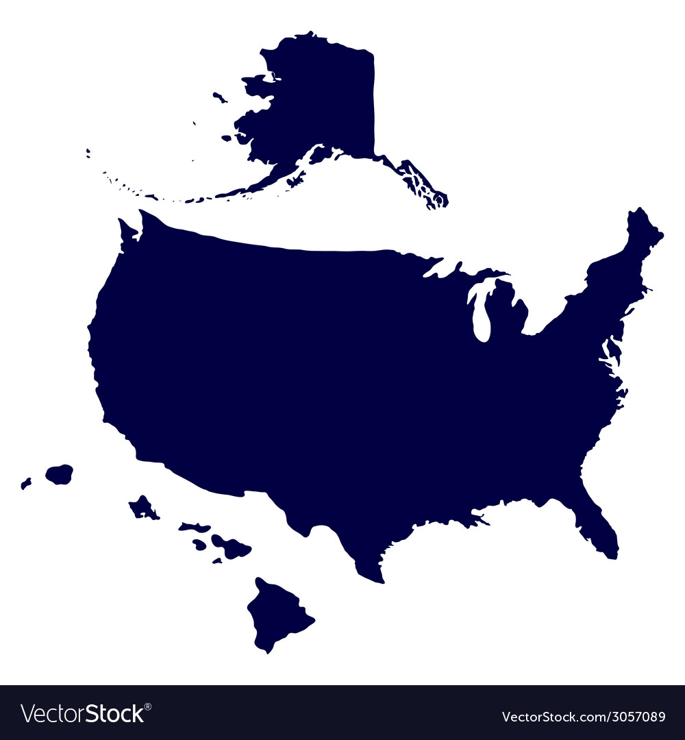 United states of america map vector | Price: 1 Credit (USD $1)