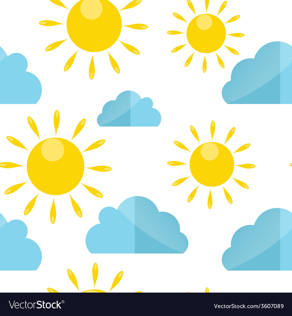 Weather seamless pattern vector   Price: 1 Credit (USD $1)