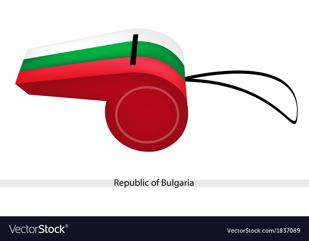 White green and red stripe on bulgaria whistle vector | Price: 1 Credit (USD $1)