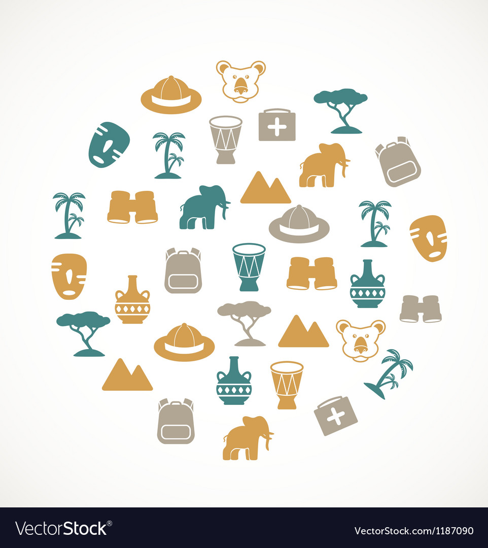 Africa symbols vector | Price: 1 Credit (USD $1)
