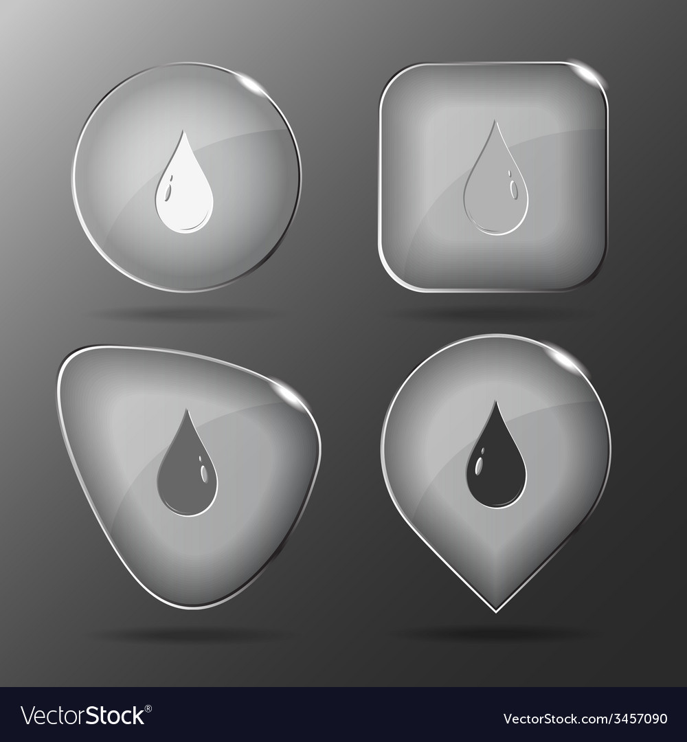 Drop glass buttons vector | Price: 1 Credit (USD $1)