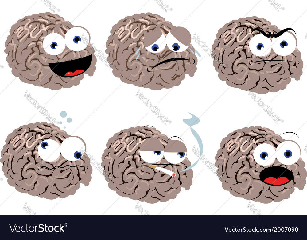 Funny brain vector | Price: 1 Credit (USD $1)