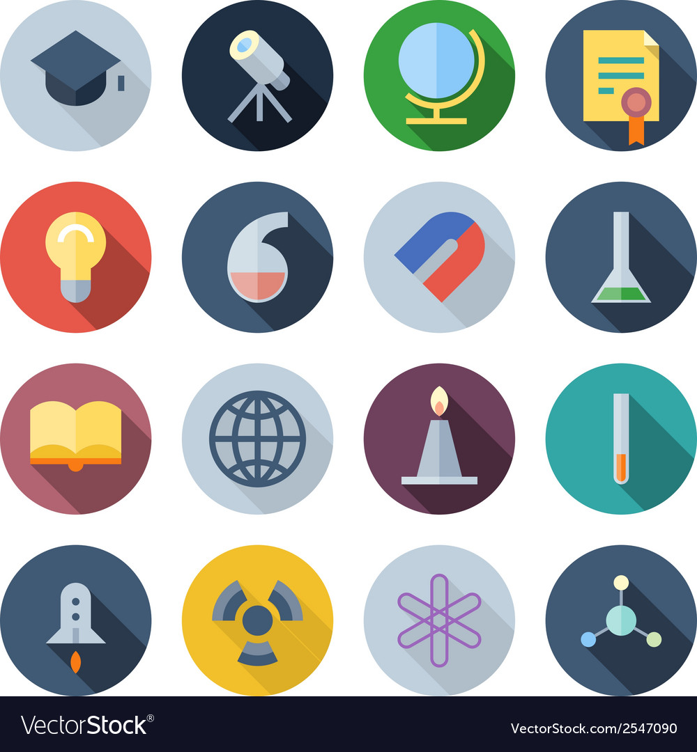 Icons for science vector | Price: 1 Credit (USD $1)