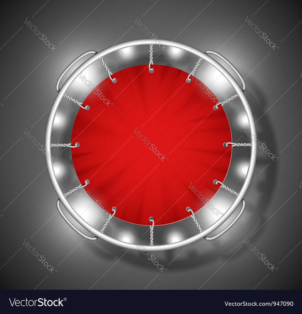 Red trampoline vector | Price: 1 Credit (USD $1)