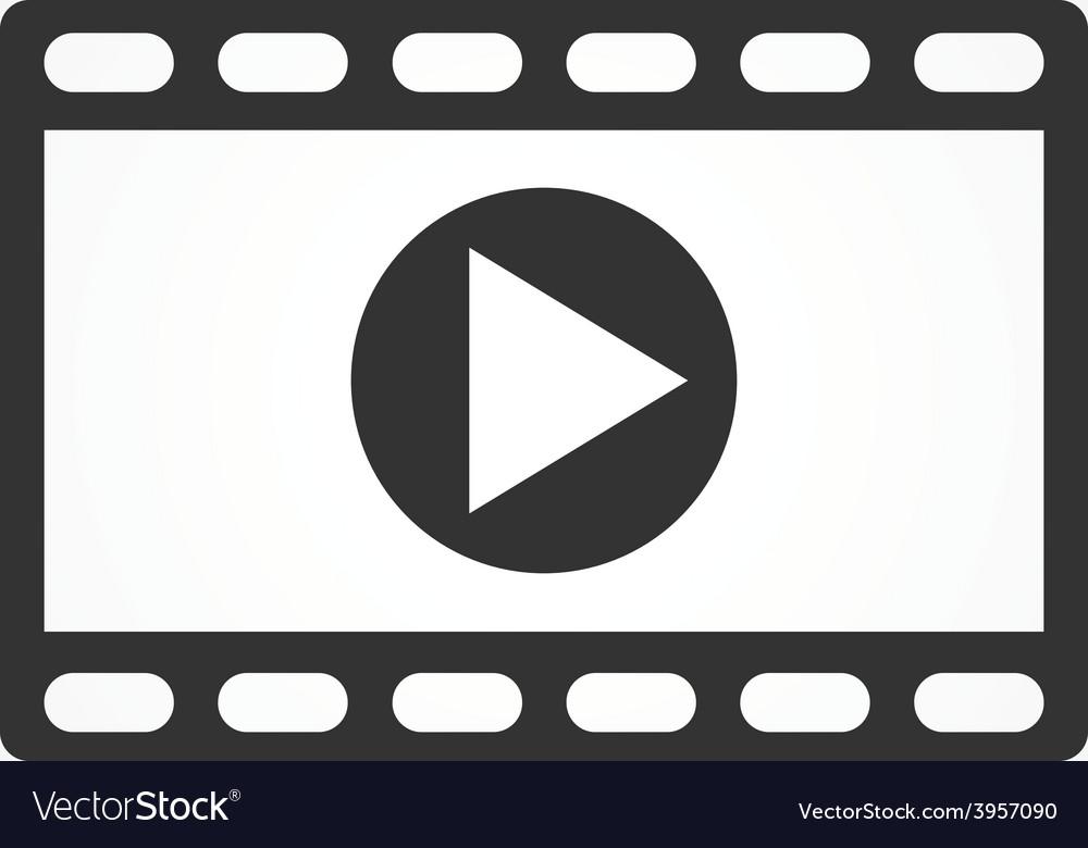 Video icon flat design vector | Price: 1 Credit (USD $1)