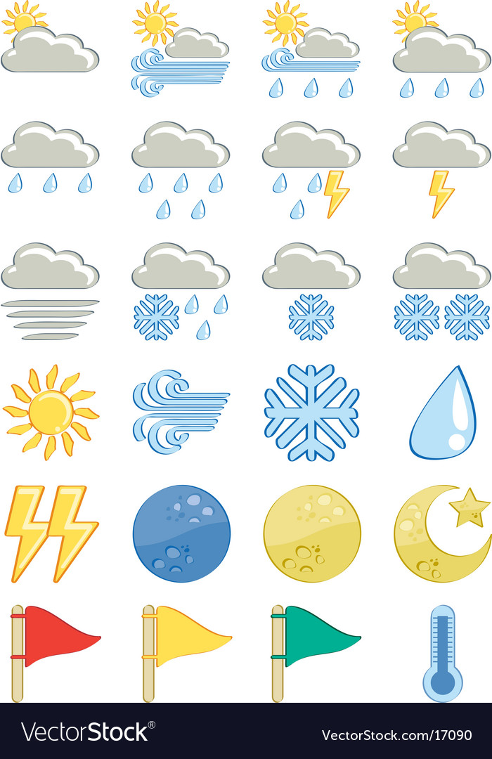 Weather icon-set vector | Price: 1 Credit (USD $1)