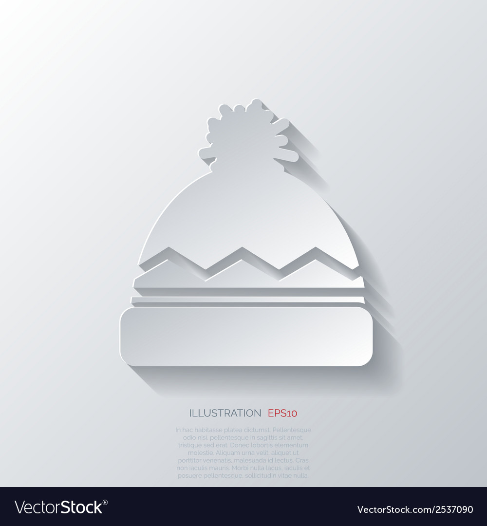 Winter snowboard cap icon vector | Price: 1 Credit (USD $1)