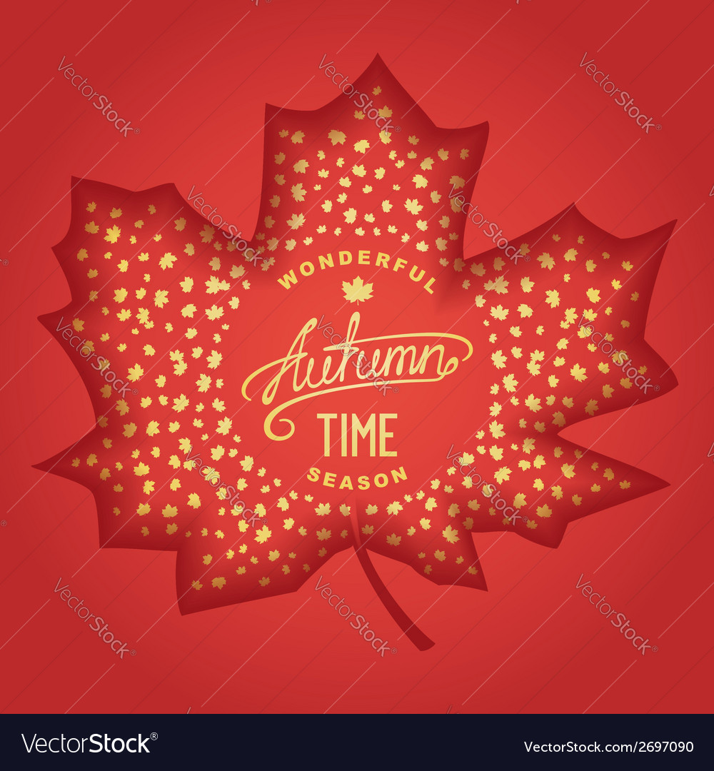 Wonderful autumn season vector | Price: 1 Credit (USD $1)