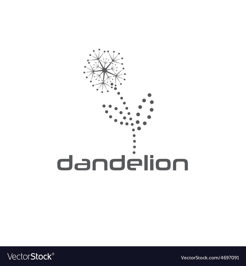 Cyber dandelion design template vector | Price: 1 Credit (USD $1)