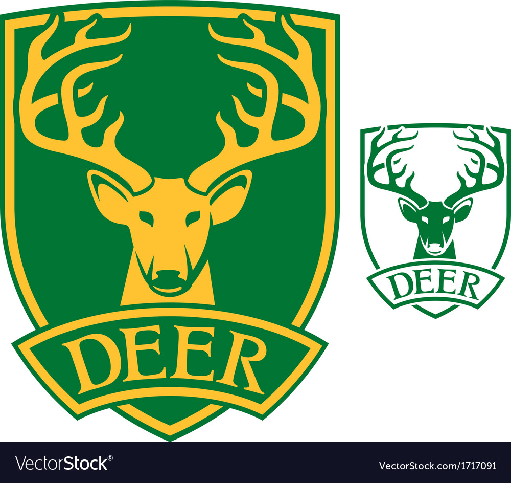 Deer head symbol vector | Price: 1 Credit (USD $1)