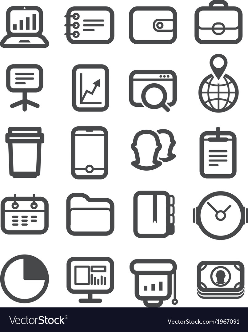 Different business icons set vector | Price: 1 Credit (USD $1)