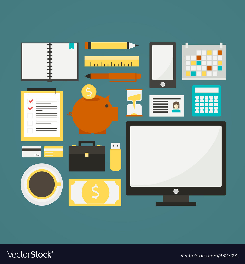 Freelance objects vector | Price: 1 Credit (USD $1)