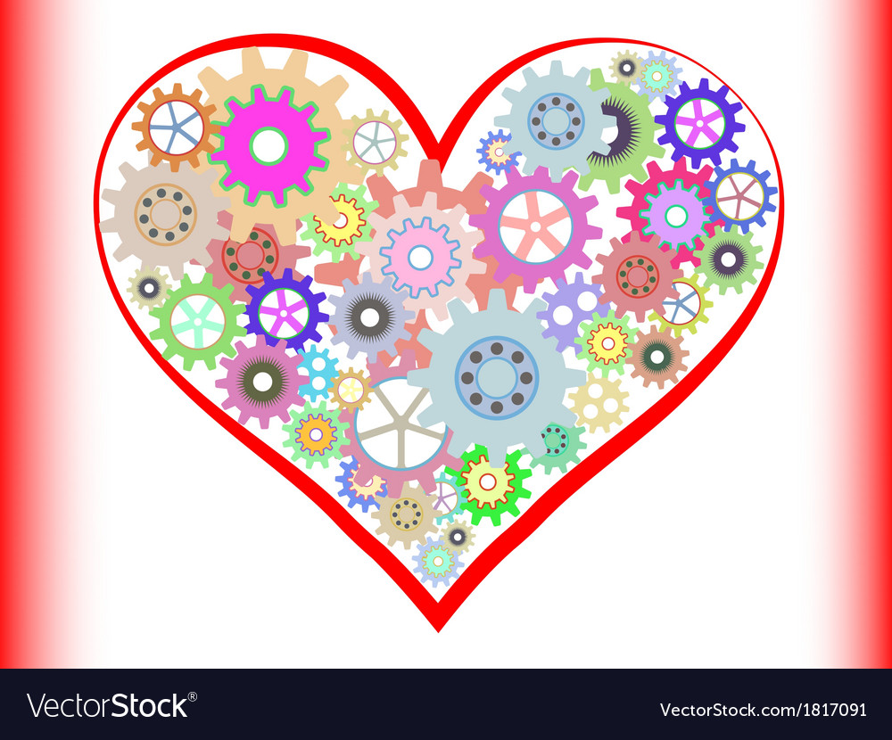 Heart of gear vector | Price: 1 Credit (USD $1)