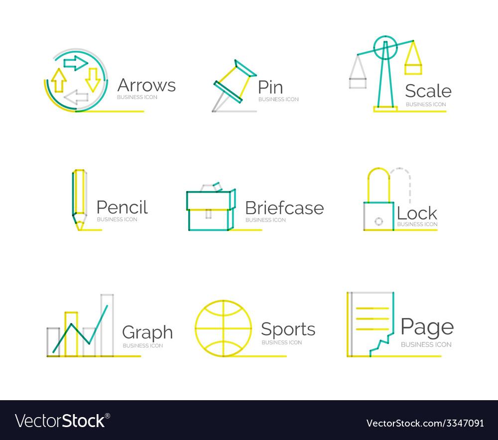 Line minimal design logo collection vector | Price: 1 Credit (USD $1)