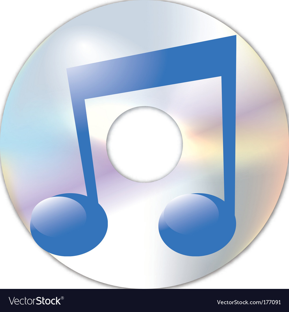Note and cd vector | Price: 1 Credit (USD $1)