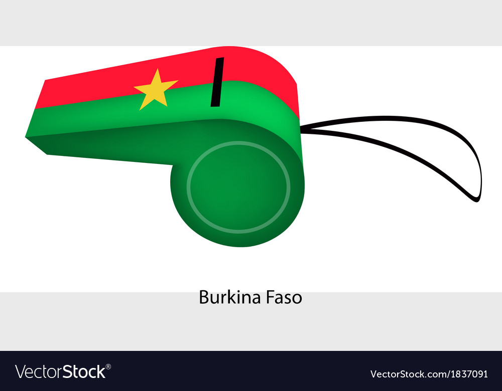Red and green stripe on burkina faso whistle vector | Price: 1 Credit (USD $1)