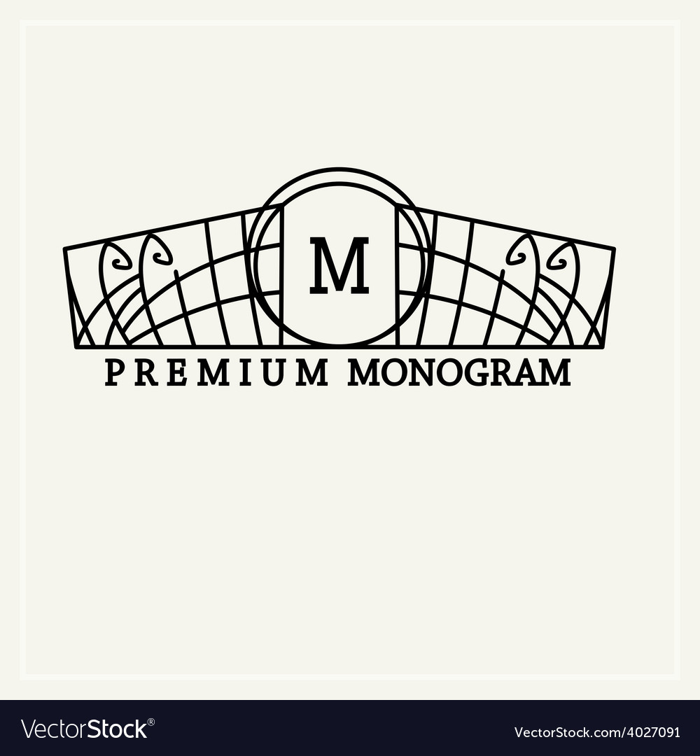 Stylish vintage graceful monogram vector | Price: 1 Credit (USD $1)
