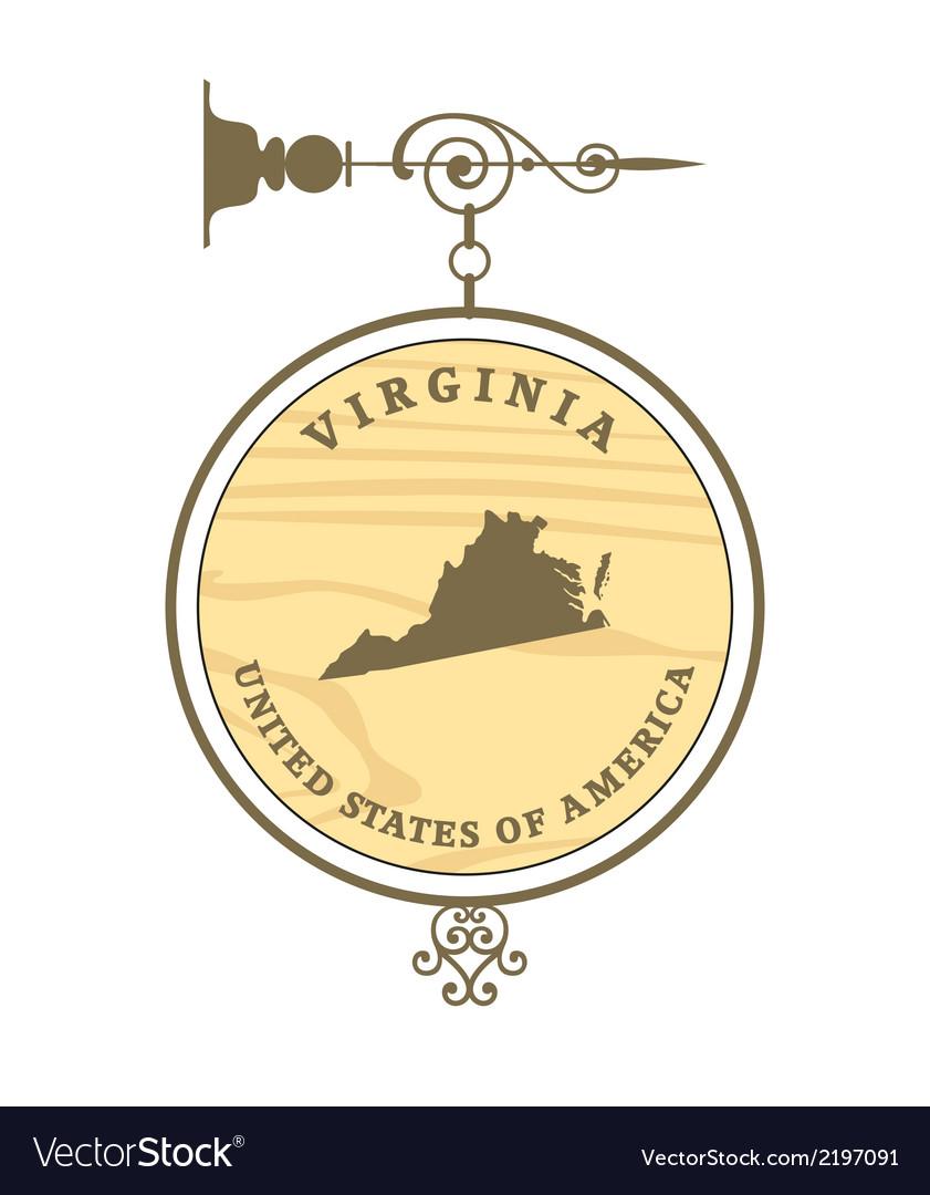 Vintage label virginia vector | Price: 1 Credit (USD $1)