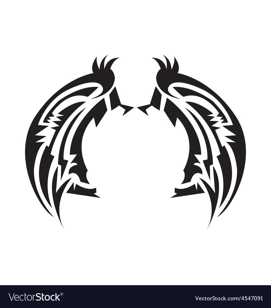 Wings tatoo vector | Price: 1 Credit (USD $1)