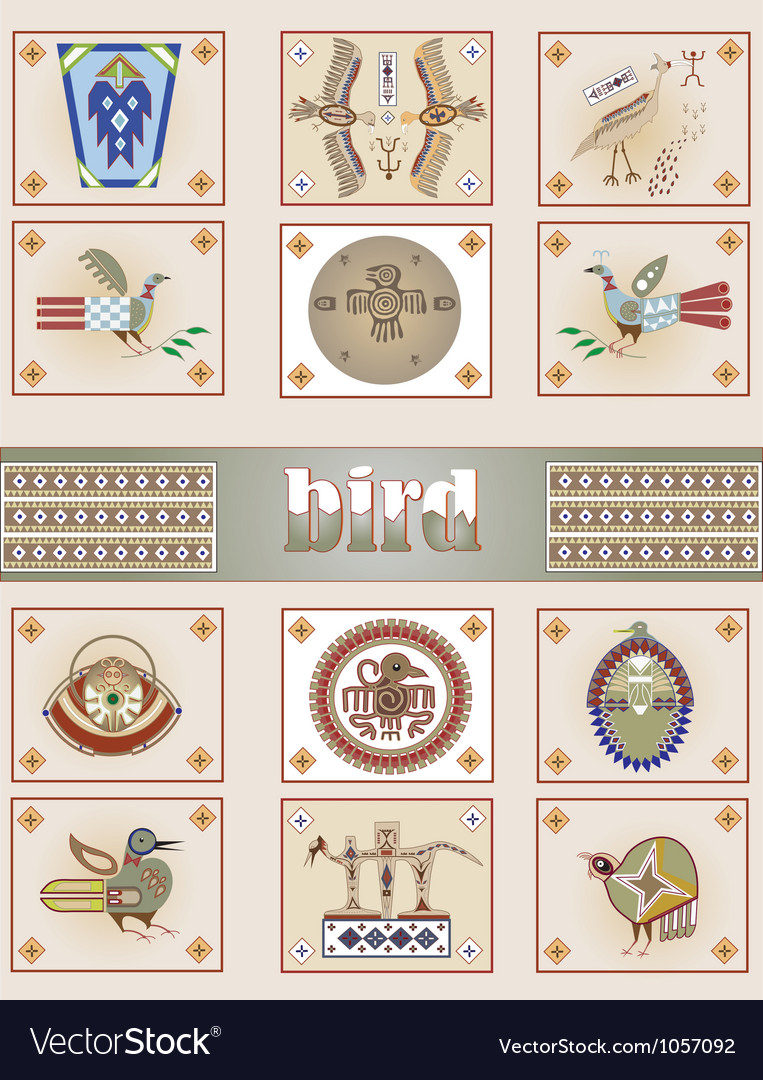 American indian bird vector | Price: 1 Credit (USD $1)