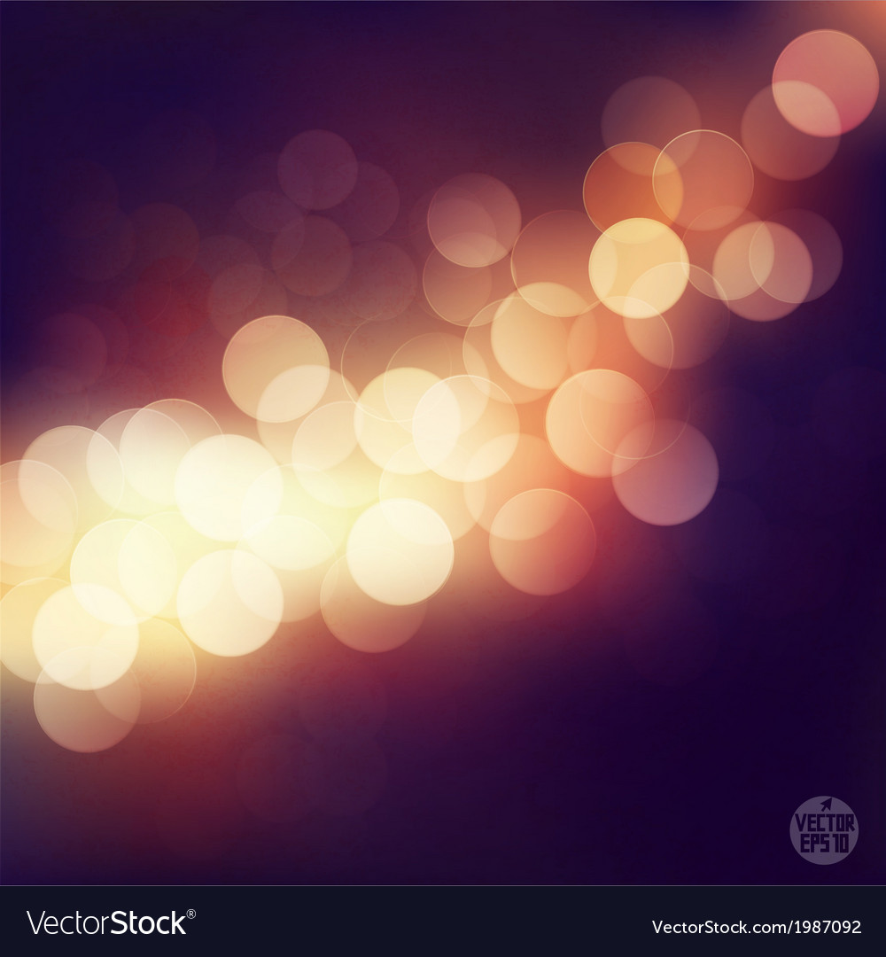 Bokeh light vintage background eps10 vector | Price: 1 Credit (USD $1)