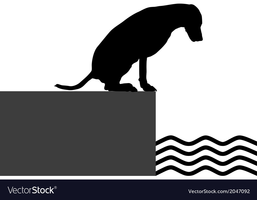 Dog at the shore vector | Price: 1 Credit (USD $1)