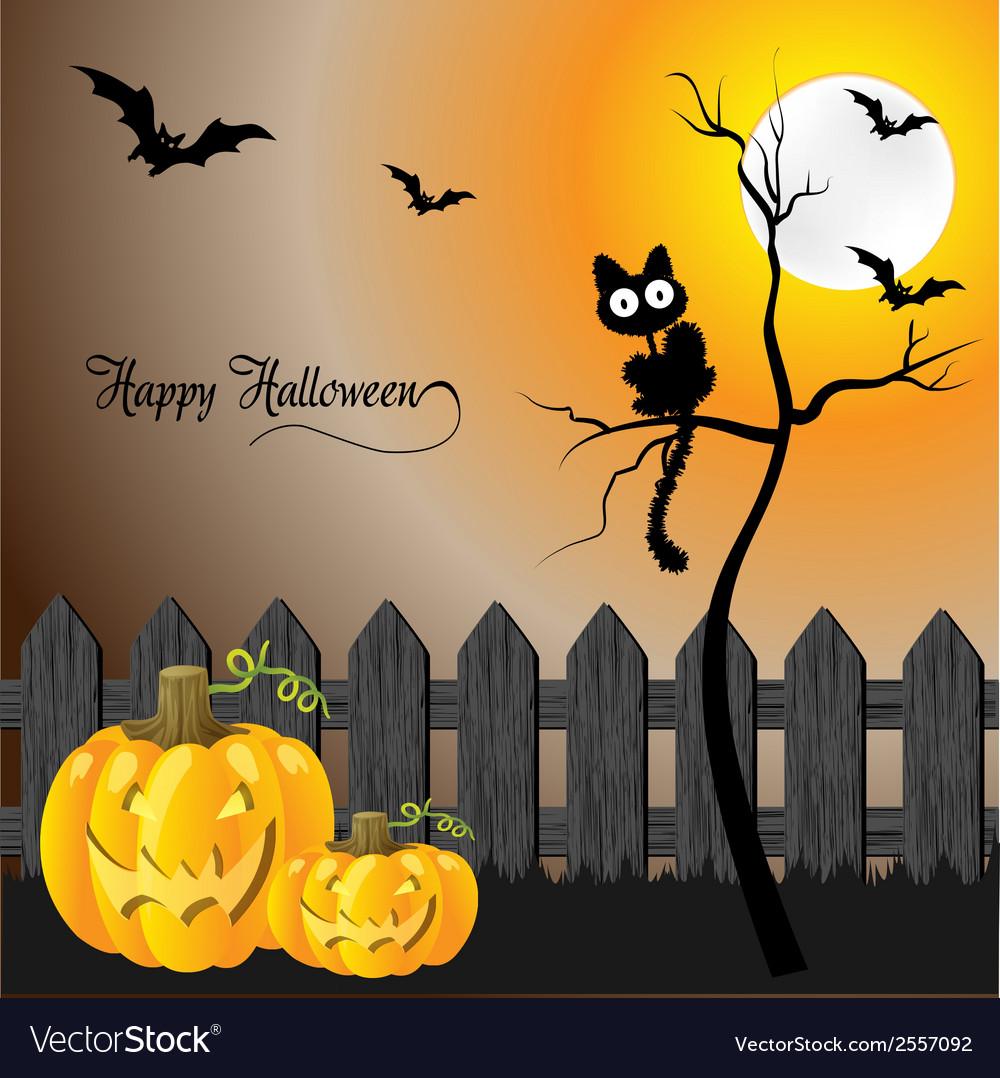 Halloween greeting card vector | Price: 1 Credit (USD $1)