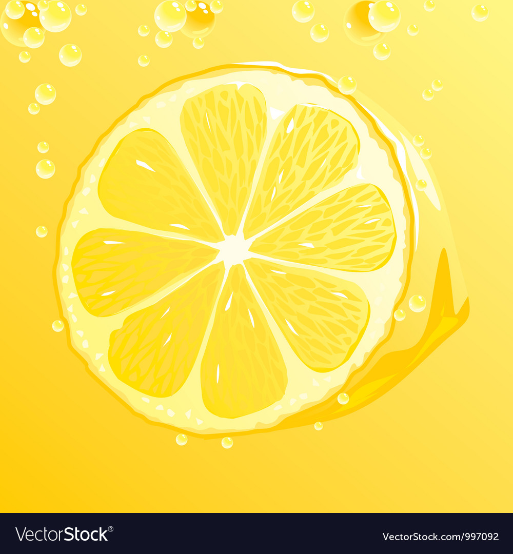 Lemon with bubbles vector | Price: 1 Credit (USD $1)