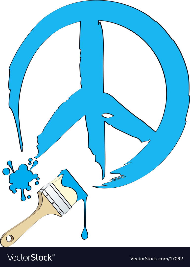 Peace painting vector   Price: 1 Credit (USD $1)