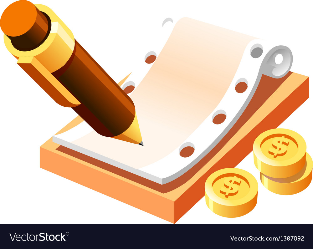 Pen and money vector | Price: 1 Credit (USD $1)