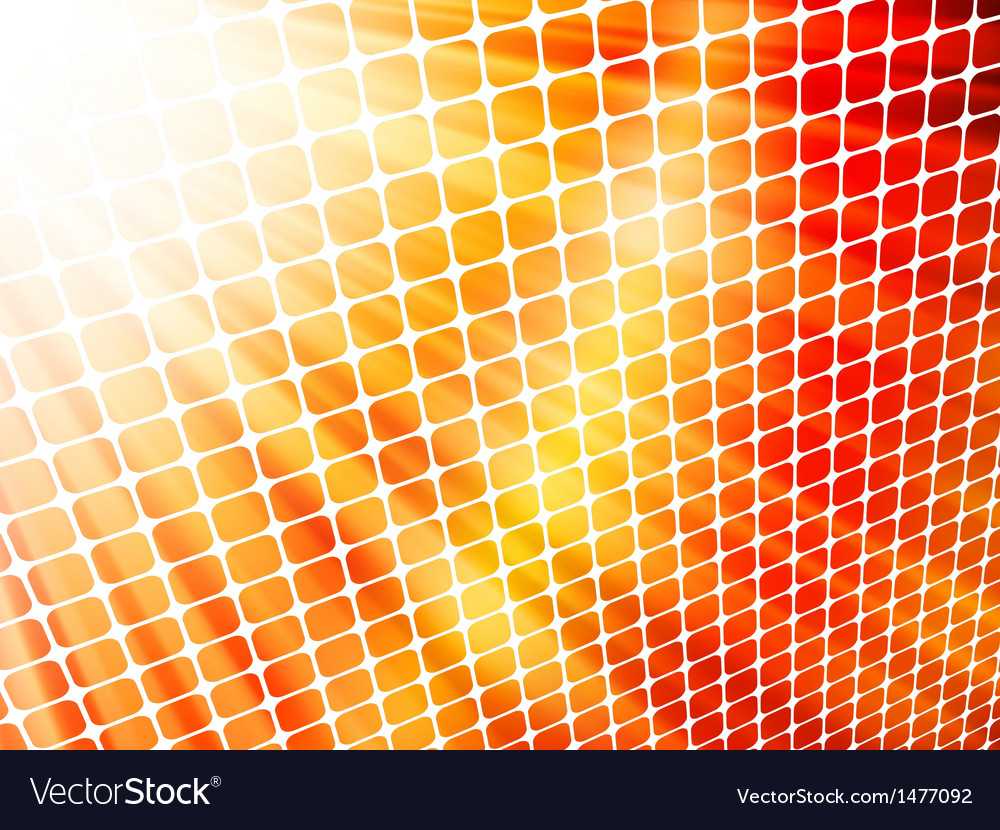 Red yellow rays light 3d mosaic eps 10 vector | Price: 1 Credit (USD $1)