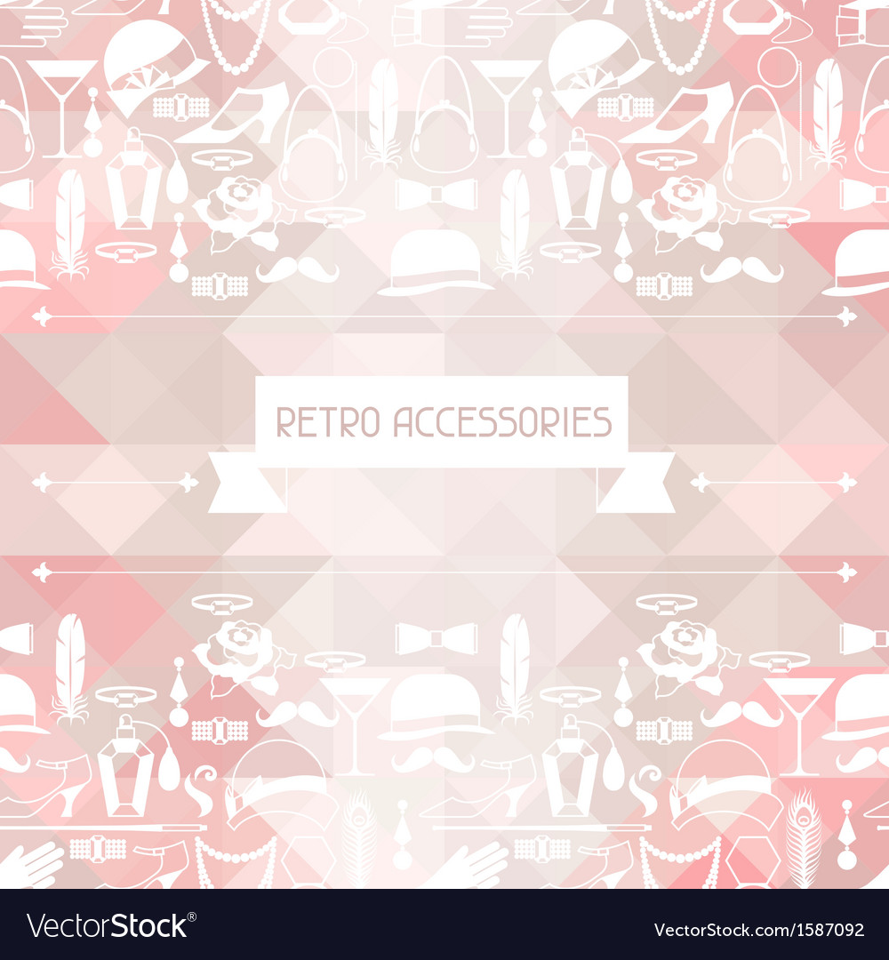 Retro of 1920s style seamless pattern vector | Price: 1 Credit (USD $1)