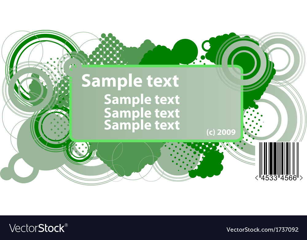 Sample text frame vector | Price: 1 Credit (USD $1)