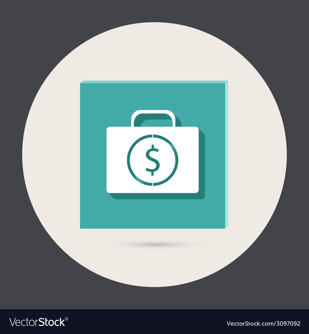 Suitcase with money vector | Price: 1 Credit (USD $1)