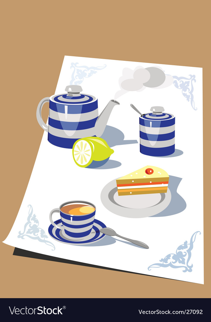 Time for tea vector | Price: 3 Credit (USD $3)