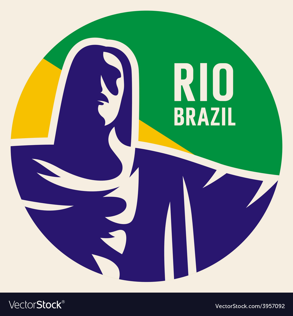 Travel sticker brazil vector | Price: 1 Credit (USD $1)