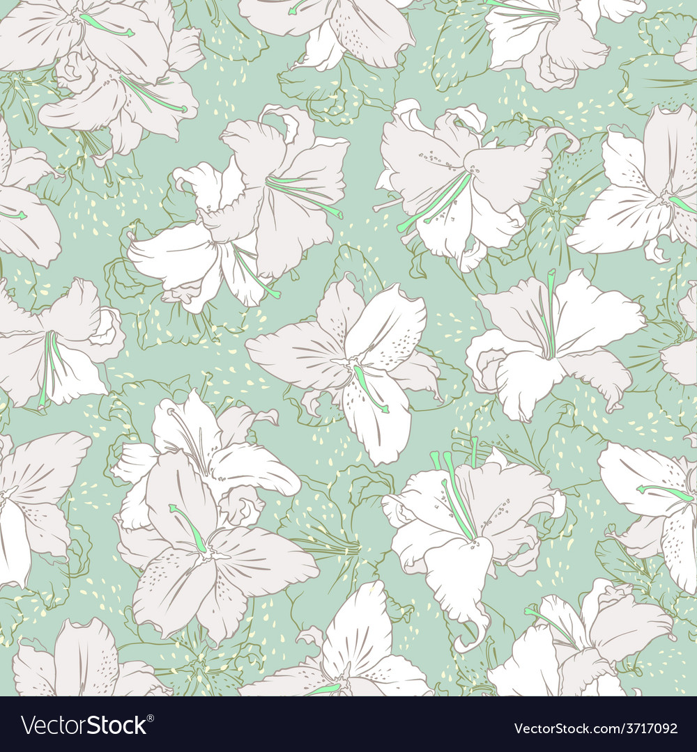 White lilies seamless pattern vector   Price: 1 Credit (USD $1)