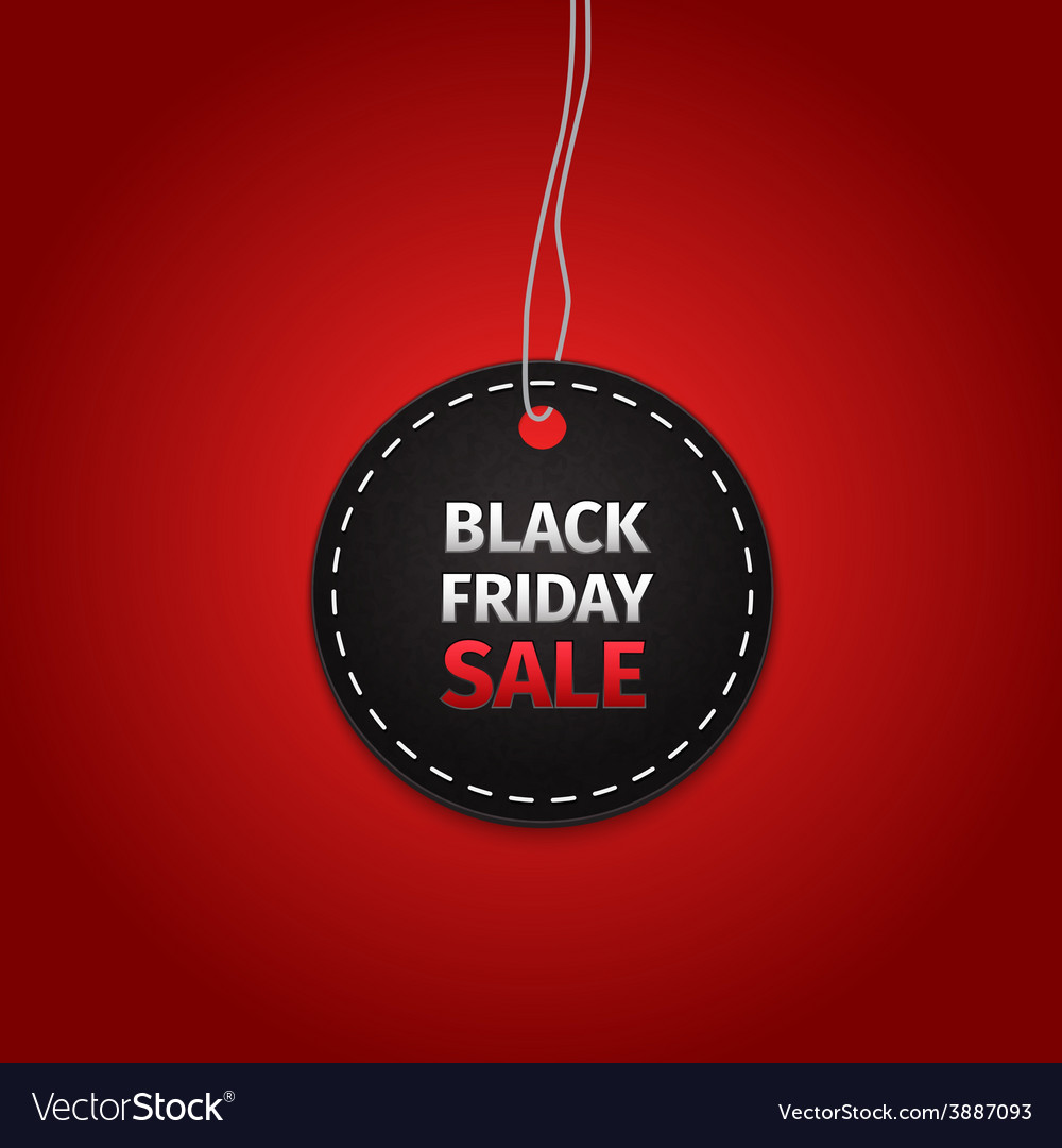 Black friday sales tag eps 10 vector | Price: 1 Credit (USD $1)