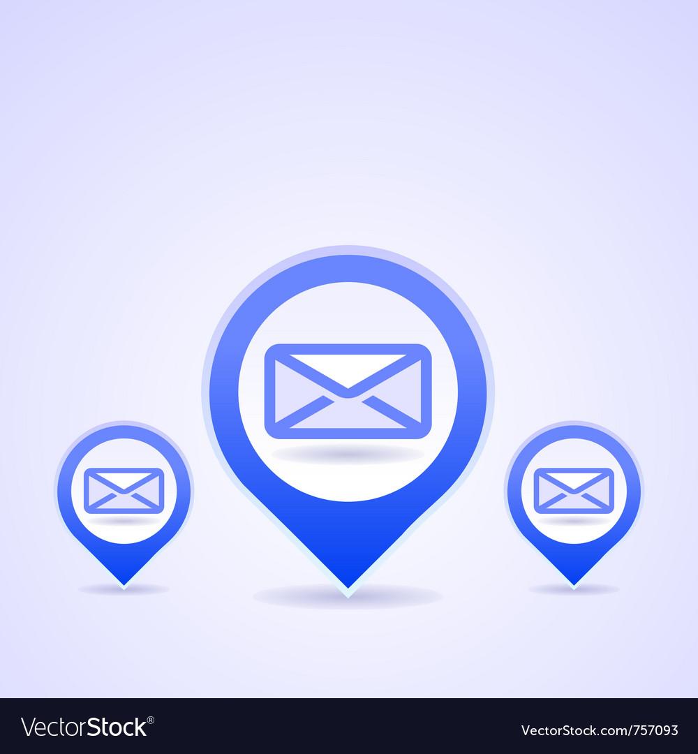 Blue mail symbols vector | Price: 1 Credit (USD $1)