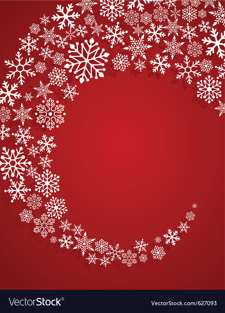 Christmas red background with snowflakes pattern vector | Price: 1 Credit (USD $1)
