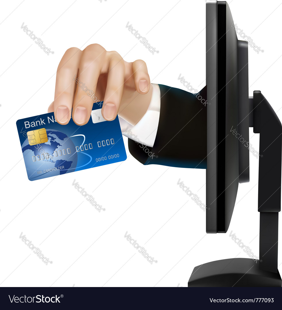 Credit card with chip vector | Price: 3 Credit (USD $3)