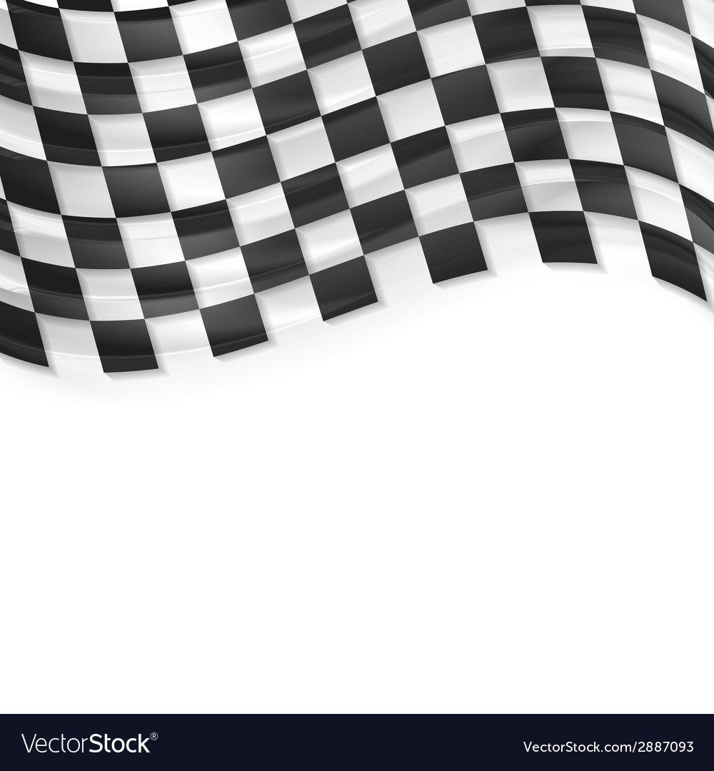 Finish wavy flag design black and white squares vector | Price: 1 Credit (USD $1)