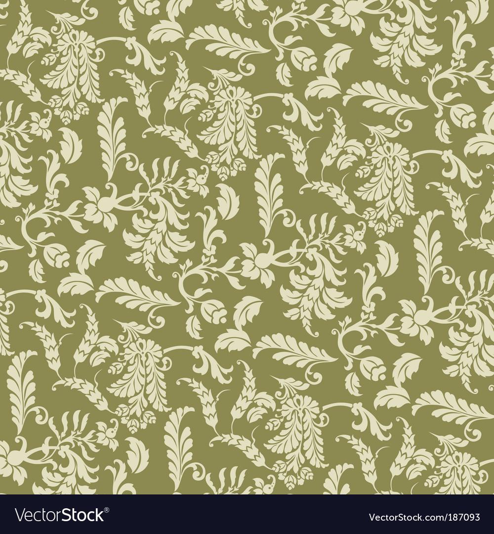 Floral vine pattern vector | Price: 1 Credit (USD $1)