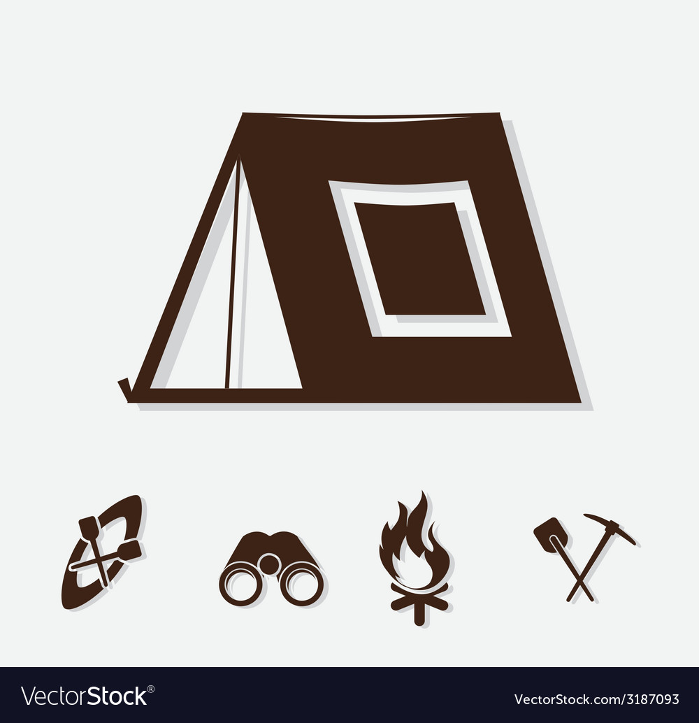 Forest camping design vector | Price: 1 Credit (USD $1)