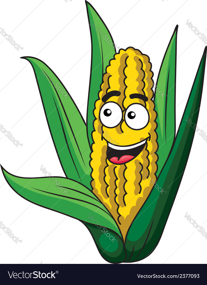 Fresh healthy corn on the cob vector | Price: 1 Credit (USD $1)