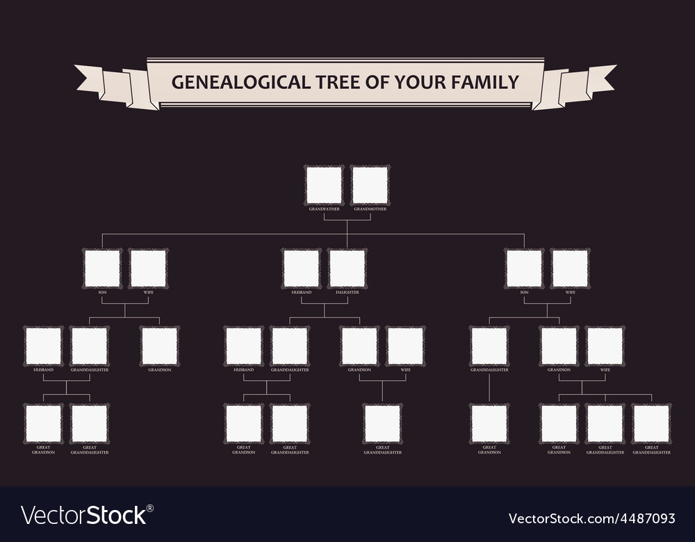 Genealogical tree of your family calligraphic vector | Price: 1 Credit (USD $1)