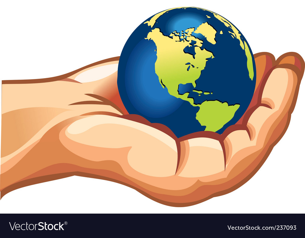 Hands with earth vector | Price: 1 Credit (USD $1)