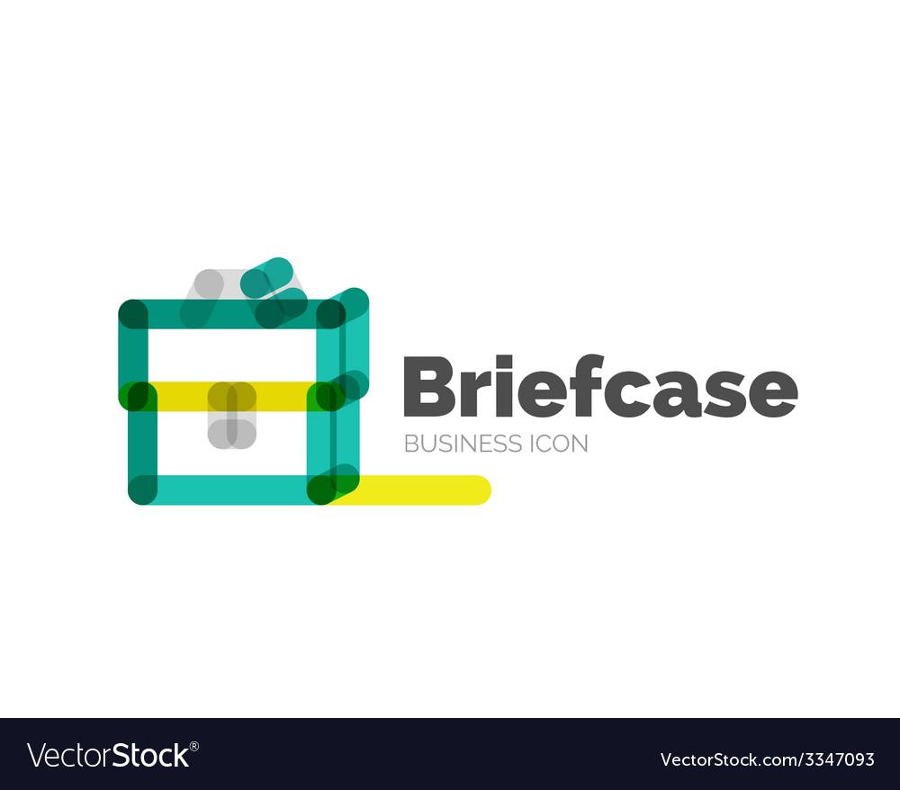 Line minimal design logo briefcase vector | Price: 1 Credit (USD $1)