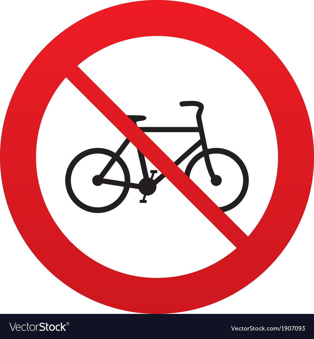 No bicycle sign icon eco delivery vector | Price: 1 Credit (USD $1)