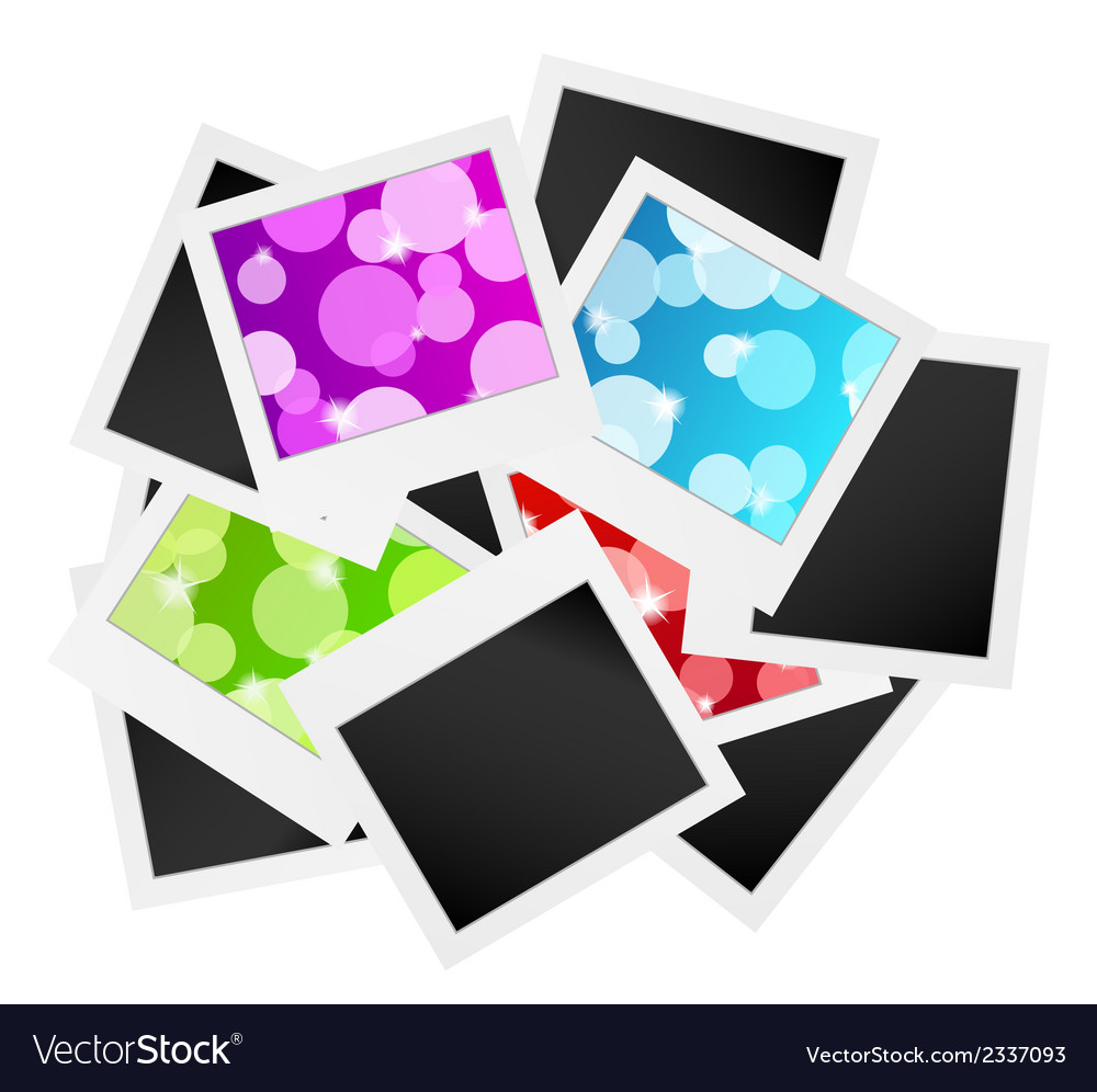 Photo frame collection with bubbles or blank vector | Price: 1 Credit (USD $1)